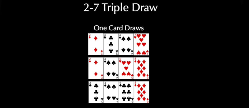 Gambling 2-7 Triple DrawOne Cards Draws
