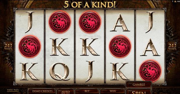 Online Slots Game of Thrones 243 Ways